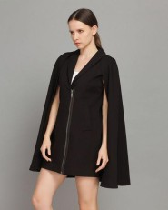 YiGelila @ YesStyle €92.47 - Layered Zip Cape Coat http://bit.ly/1wriKsG