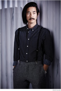 River Island €45 - Navy Polka Dot Movember Shirt http://bit.ly/1wN4GtG