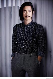 River Island €45 - Navy Polka Dot Movember Shirt http://bit.ly/1wN4GtG