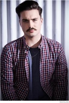 River Island €45 - Red Check Movember Shirt http://bit.ly/1rZCJK8