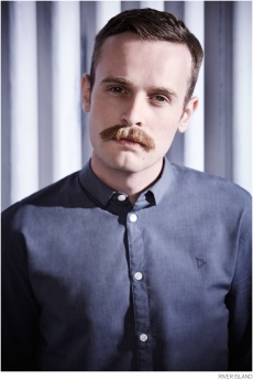 River Island €45 - Grey Crosshatch Movember Shirt http://bit.ly/1DD1NvK