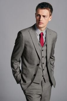 62d2784f76580c Next from €52 - Grey Birdseye Slim Fit Suit http://bit.