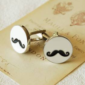 Highland Angel €21 - Moustache Cufflinks http://bit.ly/1tZQDl0