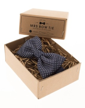 Mrs Bow Tie €34.19 - Pin Dots on Navy Blue http://bit.ly/1rGDkCo