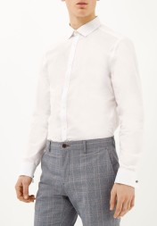 River Island €30 - Double Cuff Long Sleeve Shirt http://bit.ly/1PuOcNb