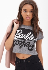 Forever 21 €13.45 - Barbie Graphic Boxy Tee http://bit.ly/1uafqjU