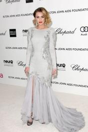 2012 Elton John AIDS Foundation Oscars Party - wearing Roberto Cavalli
