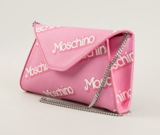 Moschino €364 - Logo Print Flap Clutch http://bit.ly/1utD1xr