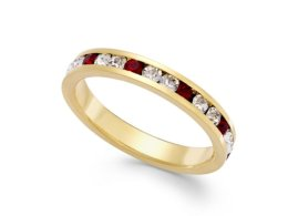 Macy's €26.04 - Traditions Red and Clear Swarovski Crystal Ring http://mcys.co/1rKioIT