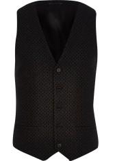 River Island €65 - Black Textured Waistcoat http://bit.ly/1qydcgl