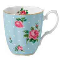 Debenhams €30 - Royal Albert Polka Blue fine bone china blue spotted rose mug http://bit.ly/1oZ1c6i