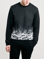 Topman €35 - Scuba Dark Water Sweatshirt http://bit.ly/1uxPBvZ