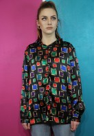 Tola Vintage €30.76 - Vintage Abstract Nineties Blouse http://bit.ly/1xzyVpT