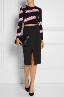 Moschino €360 - Cropped intarsia cotton sweater http://bit.ly/1BoJezP