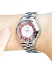 Marc by Marc Jacobs €196.41 - Henry Skeleton Watch in Silver/Salmon Pink http://bit.ly/11eoOcl