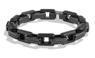 David Yurman Royal Cord Link Bracelet with Black Diamonds http://bit.ly/1yy1F1o