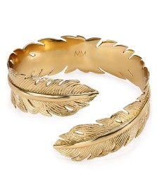 Melinda Maria €100.40 - Feather Plain Cuff http://bit.ly/1w7GdAS