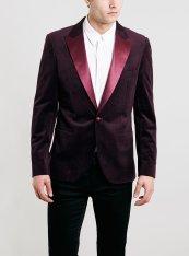 Topman €106.80 - Burgundy & Gold Pin Dot Velvet Jacket http://bit.ly/1qIfpQN
