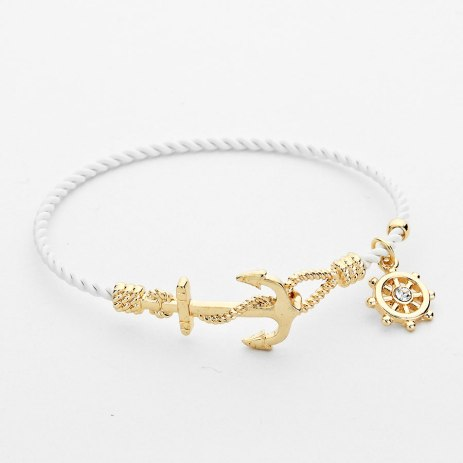 Glitz N Pieces €17 - Anchor Charm Bangle http://bit.ly/1yNm3tb