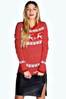Boohoo €20 - Sophia Reindeer Christmas Jumper http://bit.ly/1o5neDW