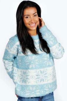 Boohoo €26 - Dixon Fluffy Snowflake Jumper http://bit.ly/1qlCY1n