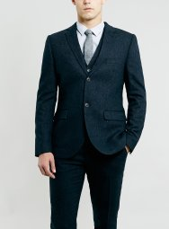 Topman €242 - Navy Tweed Three Piece Suit http://bit.ly/14RhKEv