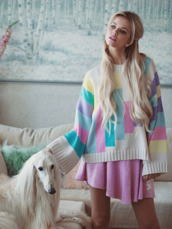 Wildfox €272 - 80's Blocks Chunky Oversized Sweater http://bit.ly/1xMnHvY
