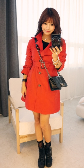 Hotping @ Yes Style €62.69 - Double-Breasted Trench Coat with Belt http://bit.ly/1uxMwHh