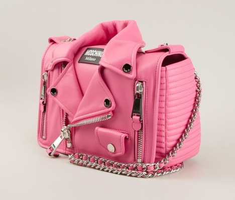 Moschino €1,630 - Pink Medium Biker Shoulder Bag http://bit.ly/1yF2UJQ