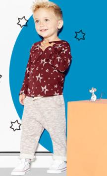 River Island €20 - Mini Boys Red Star Print Sweatshirt and Joggers http://bit.ly/1EUCDeS