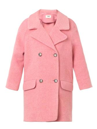 YMC €390 - Double-breasted wool-blend coat http://bit.ly/1uQqiFI
