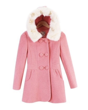 Kaven Dream @ YesStyle €56.34 - Detachable-Fur Double-Breasted Hooded Wool Coat http://bit.ly/1BDc9uF