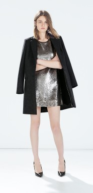 Zara €59.95 - Sequinned dress http://bit.ly/1vKflo3