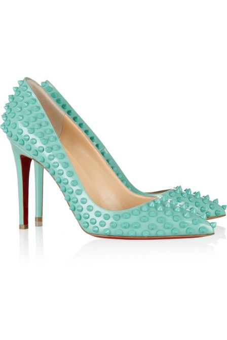 Christian Louboutin €895 - Pigalle Spikes Leather http://bit.ly/1ugZXfQ