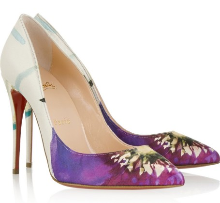 Christian Louboutin €465 - Pigalle Follies Printed Satin http://bit.ly/1Ab6A6S