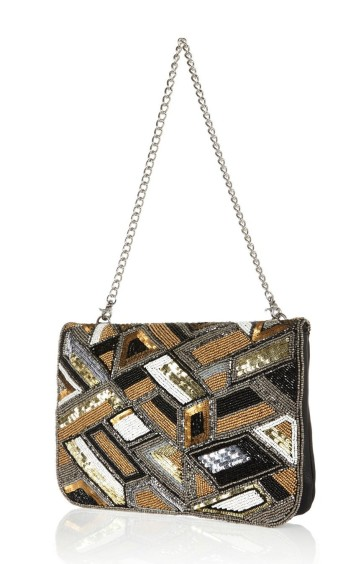 River Island €60 - Gold Embellished Leather Clutch Bag http://bit.ly/1t0ifHE