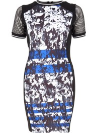 River Island - black graphic print bodycon dress