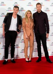 (L-R) John Newman, Ellie Goulding, Calvin Harris