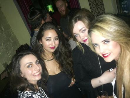 Myself with the Dublin Fashion Festival team: (L-R) Laura, myself, Lauren, Lorna
