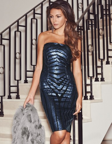 Lipsy €94.50 - Michelle Keegan Sequin Bandeau Dress http://bit.ly/1A7WW5K