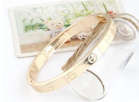 Glitz N Pieces €19.50 - Gold Love Bangle http://bit.ly/1wPjsCi