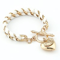 Glitz N Pieces €16.50 - Golden Charm Bracelet http://bit.ly/1w305CR