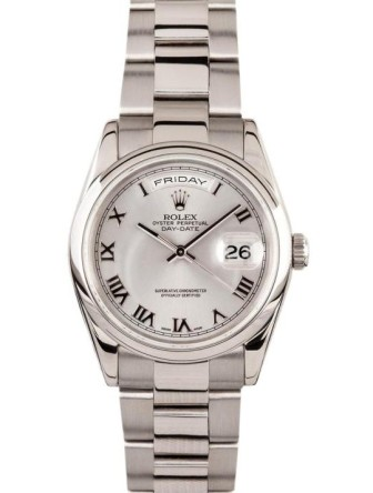 Rolex @ Invaluable €1,283.75 - 18KT White Gold Presidential Day Date Wristwatch http://bit.ly/12NUztm
