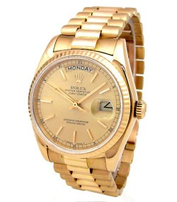 Rolex @ Invaluable €401 - 36mm 18k Yellow Gold Oyster Perpetual Daydate Watch http://bit.ly/1DwDCVd