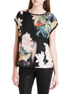 Ted Baker €75 - Opulent bloom print woven top http://bit.ly/1sEUQv2