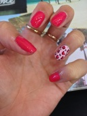 Tropical Popical manicure
