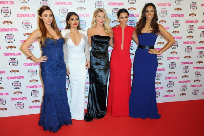The Saturdays: (L-R) Una Foden, Vanessa White, Mollie King, Frankie Bridge, Rochelle Humes