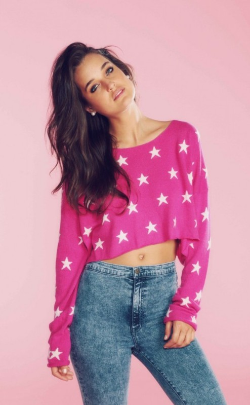 Wildfox Couture €200 - Starlight Cropped Billy Sweater http://bit.ly/1oZoFV9