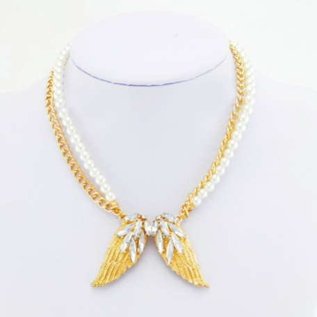 Glitz N Pieces €12 - Gold Wing Necklace http://bit.ly/1yt8IF5