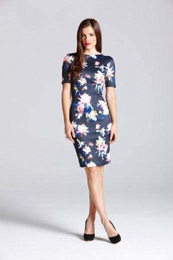 Paper Dolls €50 - Blurred Floral Slash Neck Dress http://bit.ly/1xtzFsg